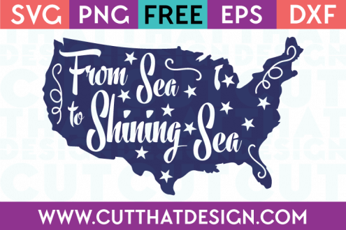Free SVG Files From Sea to shining Sea US Outline