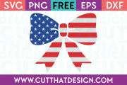 Free SVG Files Patriotic US Flag Bow Design