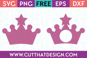 Crown monogram svg