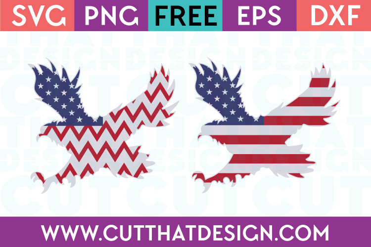 Free SVG Files USA Flag Flying Eagle Designs