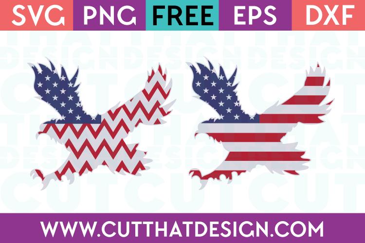 Free SVG Files USA Flag Flying Eagle Designs