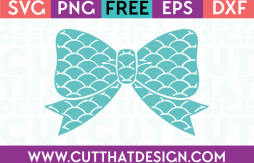 Free Scallop Bow SVG Cutting File