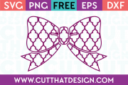 Free Moroccan Bow SVG File