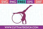 Gymnast SVG Free
