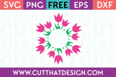 free flower monogram svg