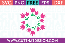 free flower monogram svg