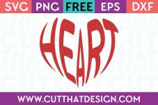 Free Heart Wordart SVG