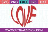 Free Word Art Heart SVG