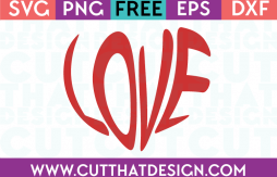 Free Word Art Heart SVG