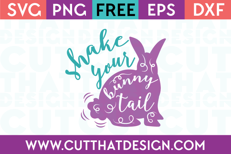Easter SVG Cuts Free Bunny Tail