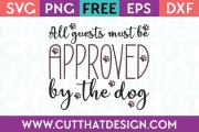 Free SVG Wordart Dog