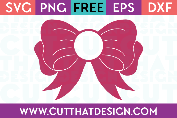 Free Svg Files Bow Monogram Design 2 Cut That Design