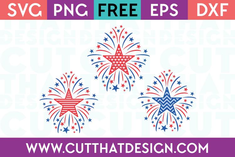 Free SVG Files Star Firework Designs Set, Heart, Stripe and Chevron