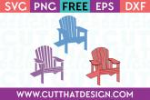 Adirondack Chair Design Set Free SVG