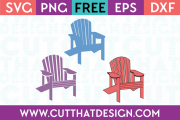 Adirondack Chair Design Set Free SVG