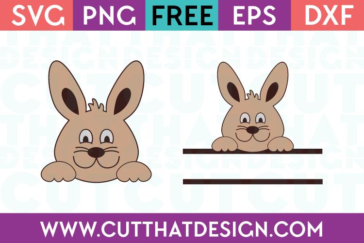 Split easter bunny svg free