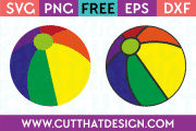 Free Beach Ball SVG