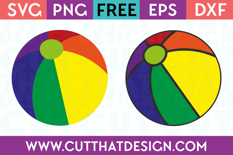 Free SVG Files | Beach Ball Designs Cut That Design