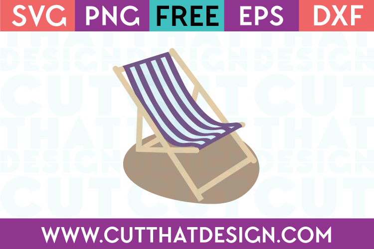 Free Beach Chair SVG
