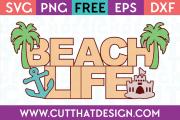 Beach Life SVG Free
