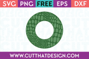 Free Alligator Circle Frame SVG
