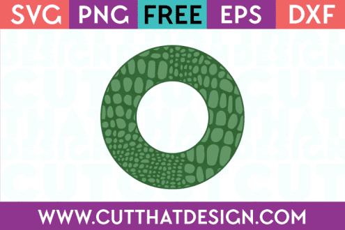 Free Alligator Circle Frame SVG
