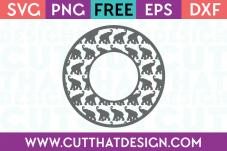 Elephant Monogram Frame SVG