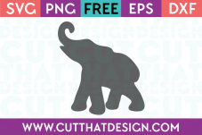 Free Elephant Silhoutte SVG