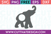 Free Elephant Monogram SVG
