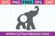 Free Elephant Monogram SVG