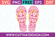 Free Flip Flop SVG Aztec Pattern
