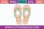 Free Flip Flop SVG Aztec