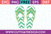 Chevron Flip Flop Monogram SVG Free