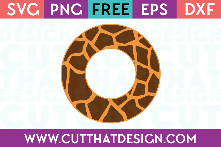 Giraffe Circle Frame SVG
