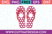 Monogram Heart Flip Flop SVG