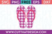 Houndstooth Flip Flop SVG