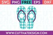 Houndstooth Flip Flop Monogram SVG