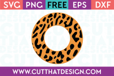 Leopard Print SVG Circle Frame