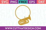 Tuba Monogram Frame SVG