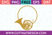 French Horn Monogram SVG