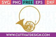 French Horn Monogram SVG