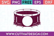 Snare Drum Monogram SVG