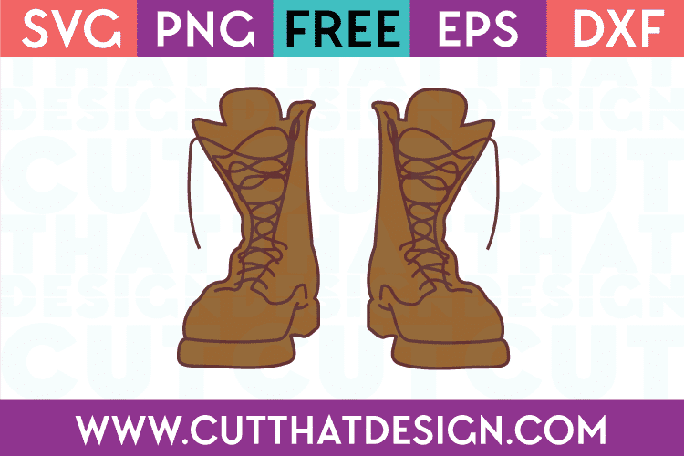Army Boot SVG