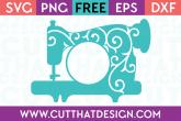 Sewing Machine Monogram Swirl SVG
