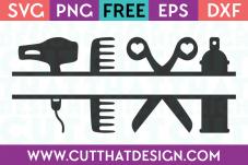 Hairdresser free svg cut files