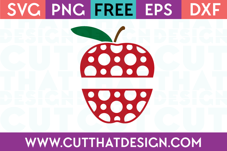 free split apple svg