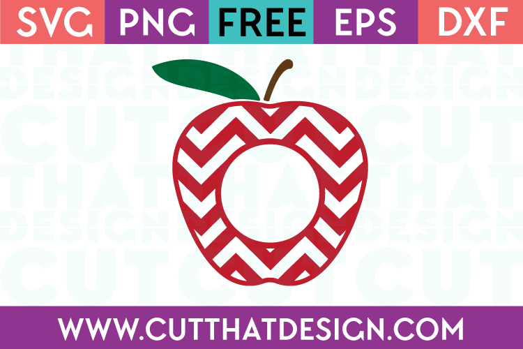 Apple monogram chevron svg