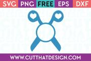Hair Dressing Scissors Monogram SVG