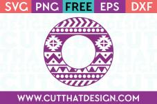 free circle monogram svg file