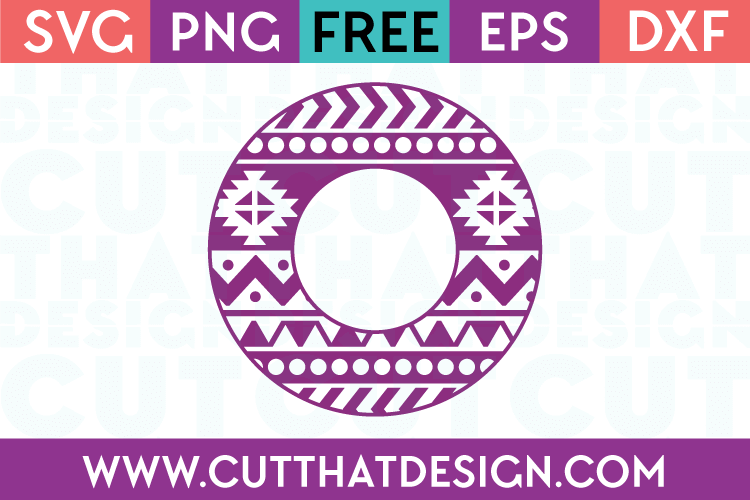 free circle monogram svg file